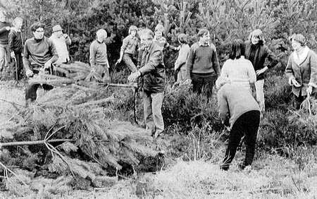 Group of volunteers in the 1970s
